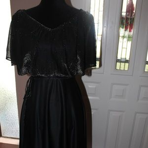 Vintage Little Black Disco Dress